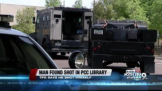 Man found shot in PCC library - Video