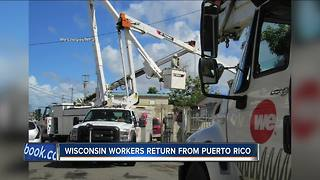 We Energies returning from Puerto Rico - Video