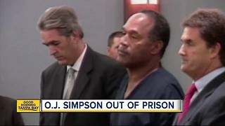 O.J. Simpson is free, walks out of prison after 9 years - Video