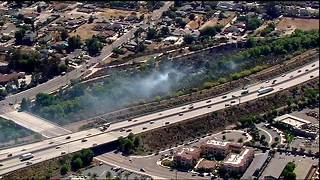 Homes evacuated due to Santee brush fire - Video