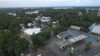 Drone Footage Shows Aftermath of Hurricane Hermine in Florida - Video