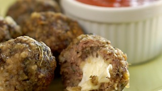 Crockpot Mozzarella-Stuffed Meatballs - Video