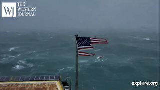Hurricane Florence Flag Timelapse - Video