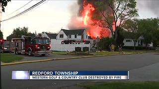 Firefighters battling massive fire at Western Golf and Country Club in Redford Township - Video