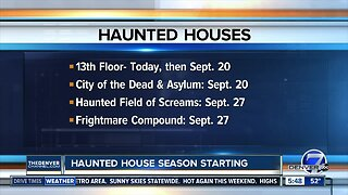 Haunted Houses opening dates