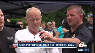 Father of Lt. Allan gives emotional speech - Video