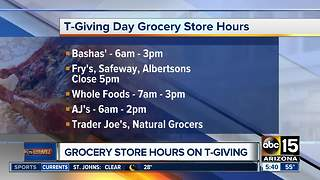 Grocery store hours this Thanksgiving - Video