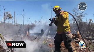 Indian River County firefighters keeping close watch on brushfires - Video