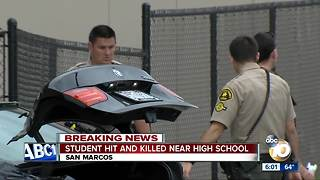 Student hit and killed in San Marcos - Video