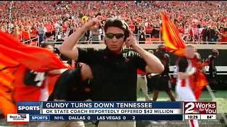 Mike Gundy turns down $42 million from Tennessee to remain at Oklahoma State - Video