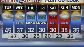 Autumns 7 First Alert FOrecast for 7 Eyewitness News at Noon - Video