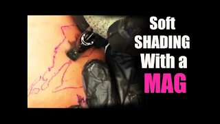 ✅HOW TO TATTOO:✅ SOFT SHADING WITH A MAG NEEDLE!!! 👀 IN REAL TIME ❗❗