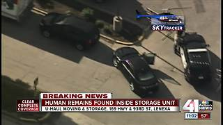 Lenexa police find human remains in storage unit