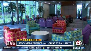 Newly renovated residence hall opens at Ball State - Video