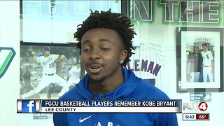 FGCU basketball players react to Kobe Bryant's death