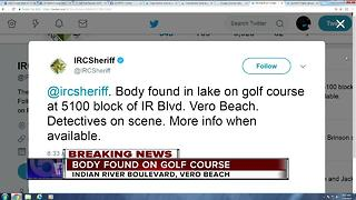 Body found in lake on golf course in Indian River County - Video