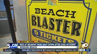 Belmont Park ride closed after Ohio accident - Video