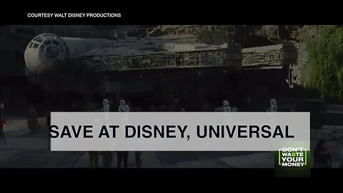 Save big money at Disney and Universal parks