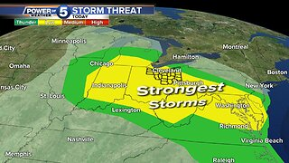 Several rounds of storms coming Tuesday