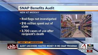 Audit: MO SNAP benefits went to deceased, imprisoned - Video