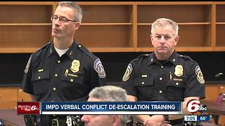IMPD participate in verbal conflict de-escalation training - Video