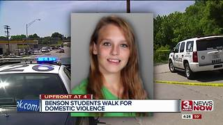 Benson High School's JROTC walk for domestic violence - Video