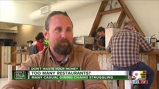 Why are casual dining chains struggling? - Video