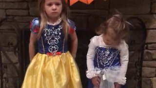 A Little Girl Refuses To Hug Her Sister - Video