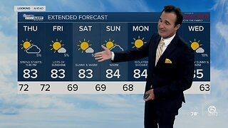Latest Weather Forecast 5 p.m. Wednesday