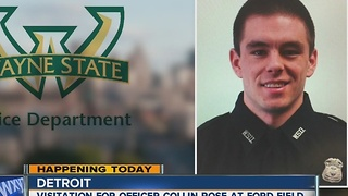 Visitation begins for WSU Police Officer Collin Rose - Video