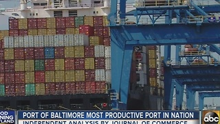 Port of Baltimore named Most Productive Port in the nation - Video