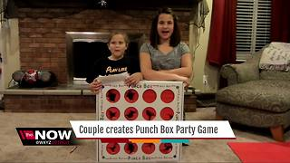 Couple creates punch box party game - Video