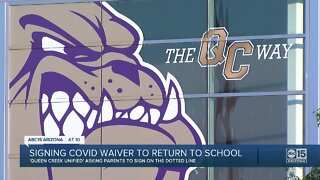 Parents asked to sign COVID-19 waivers before kids return to school