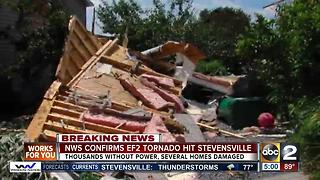 NWS confirms EF2 Tornado, Thousands without power - Video