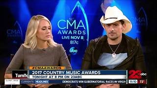 Carrie Underwood and Brad Paisley Talk 2017 CMAs - Video