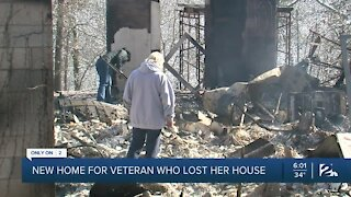 New home for veteran who lost her house