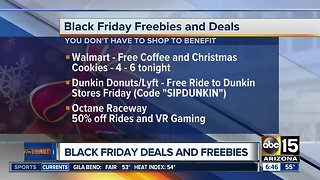 Black Friday freebies throughout the Valley