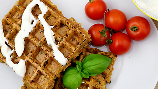 How to make a falafel waffle - Video