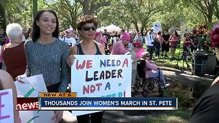 Thousands join Women's March in St. Pete - Video