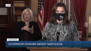Governor Whitmer pays tribute to Benny Napoleon