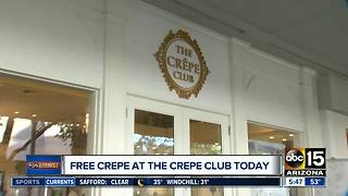Crepe Club offering free crepes on Friday - Video
