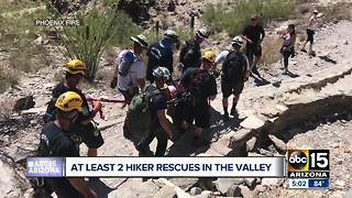 Two mountain rescues in Valley as temperatures drop - Video