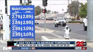 Gas prices expected to increase Wednesday as new gas tax goes into effect - Video