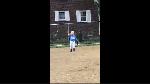 4-Year-Old Hilariously Copies Favorite MLB Player After Hitting Home Run In Tee Ball