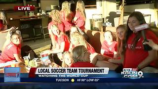 Local girls soccer team returns from regionals, watch World Cup game - Video