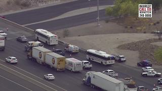 LVMPD busses involved in I-15 crash - Video