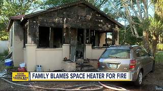Family blames space heater for fire that destroyed home in St. Pete