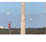 Local Captures SpaceX Boosters Landing With Precision - Video