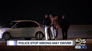 Wrong way driver stopped in Scottsdale