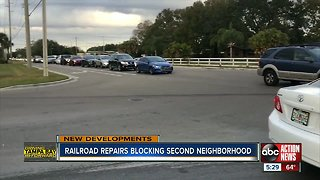 CSX repairs cause gridlock in Gibsonton, trapping drivers in their own neighborhoods